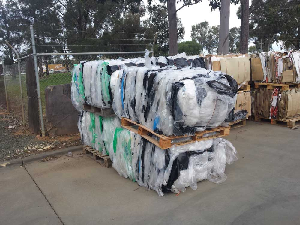 recycling post industrial film plastic forests