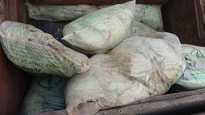 recycling silage film plastic forests