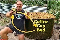 Raised Garden Bed Made From Coffee Cups And Recycled Soft Plastics