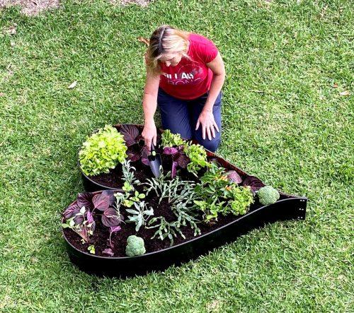 Garden Bed Plastic Heart