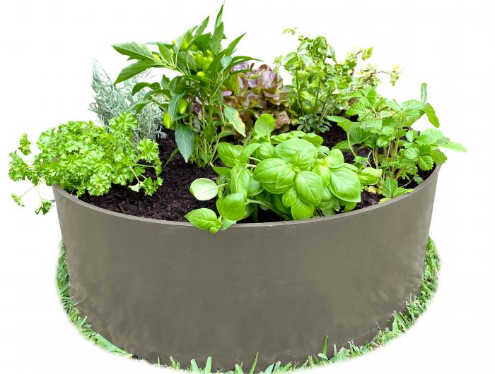 Raised garden bed plastic grey