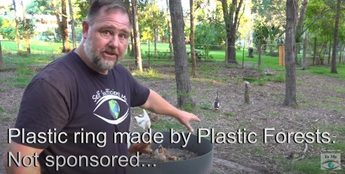 Making Compost Fertiliser with Chickens