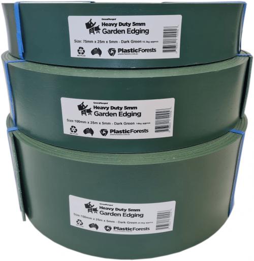 Heavy Duty Garden Edging rolls- Dark Green
